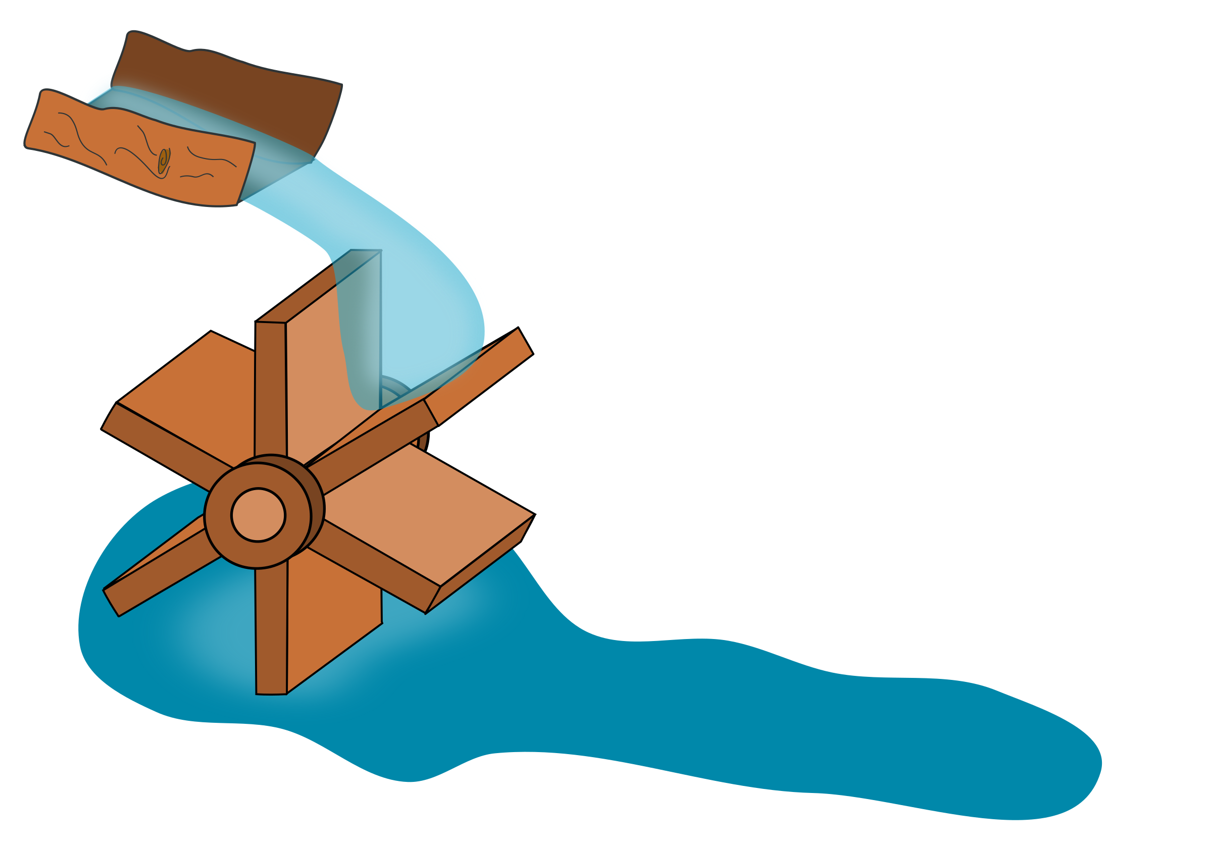 svg free library Water wheel clipart. Big image png.