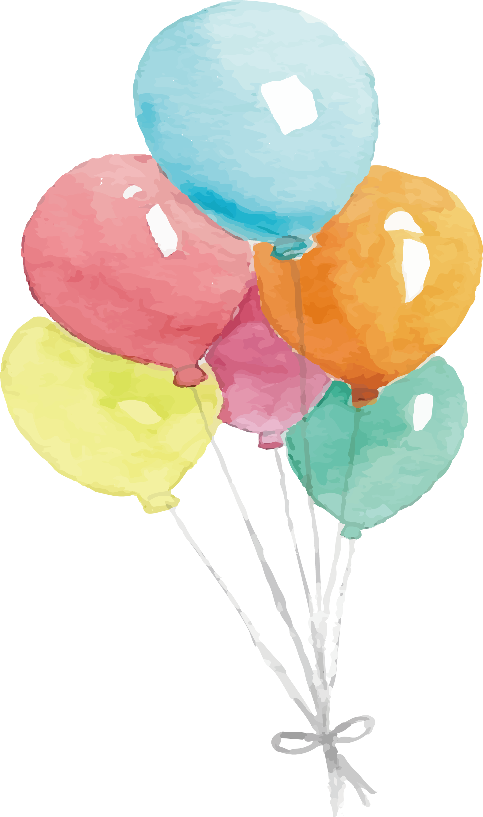 picture freeuse stock Vector balloon watercolour. Watercolor painting transprent png