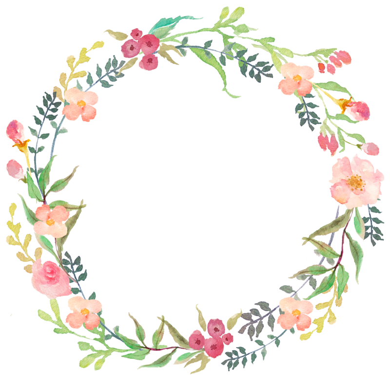 clip art transparent library Flower wreath clipart. Original png yazi fonlari