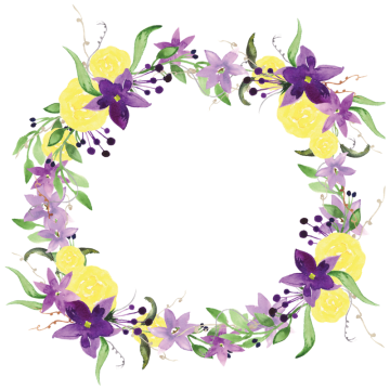 vector black and white stock Clipart flower border. Wreath watercolor png vectors