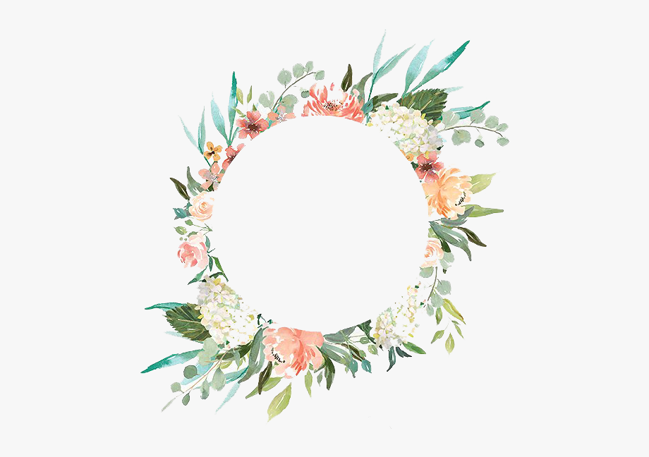 png free library With flowers png peoplepng. Watercolor wreath clipart
