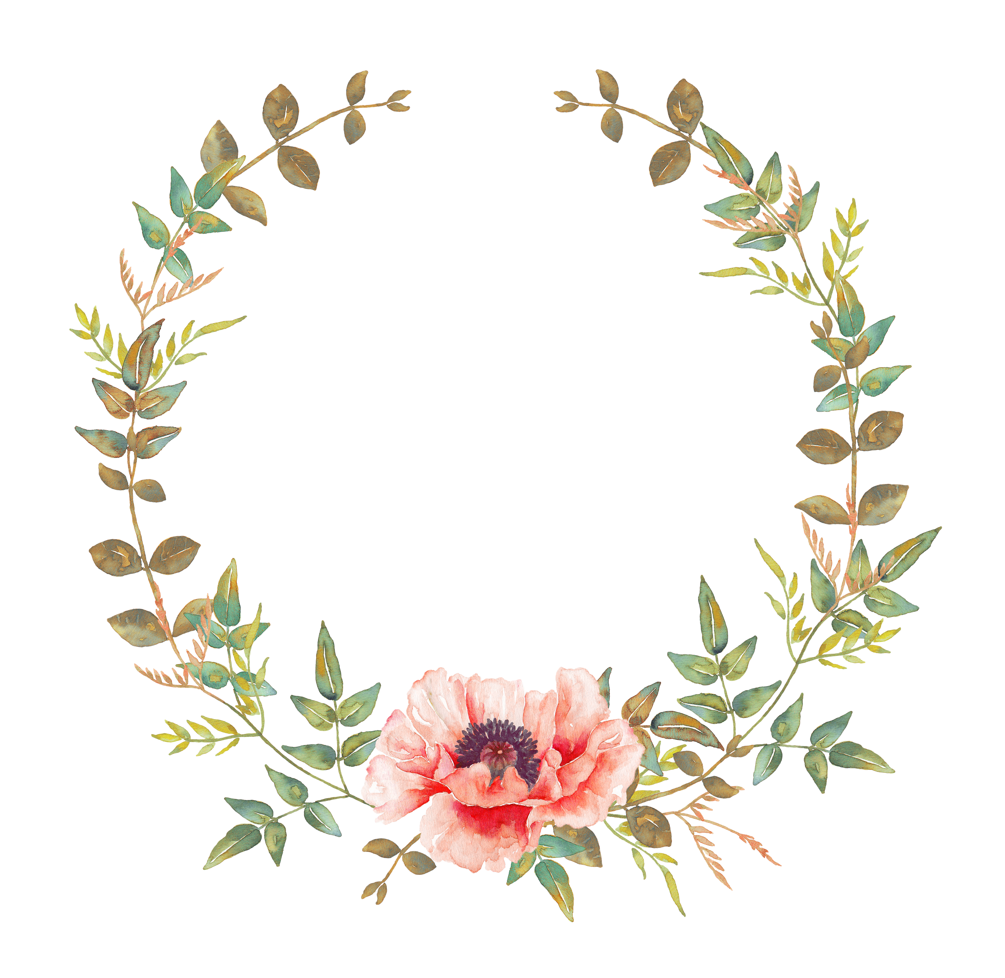 vector free library Watercolor wreath clipart. Pin by on pinterest