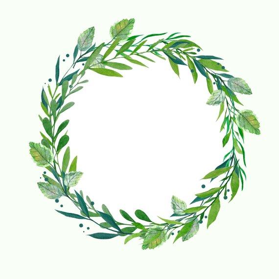 clipart stock Hydrangea botanical . Watercolor wreath clipart