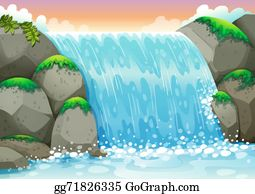vector library Clip art royalty free. Waterfall clipart