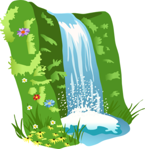 image black and white download Clip art at clker. Waterfall clipart