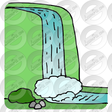 vector royalty free Waterfall clipart. Picture for classroom therapy