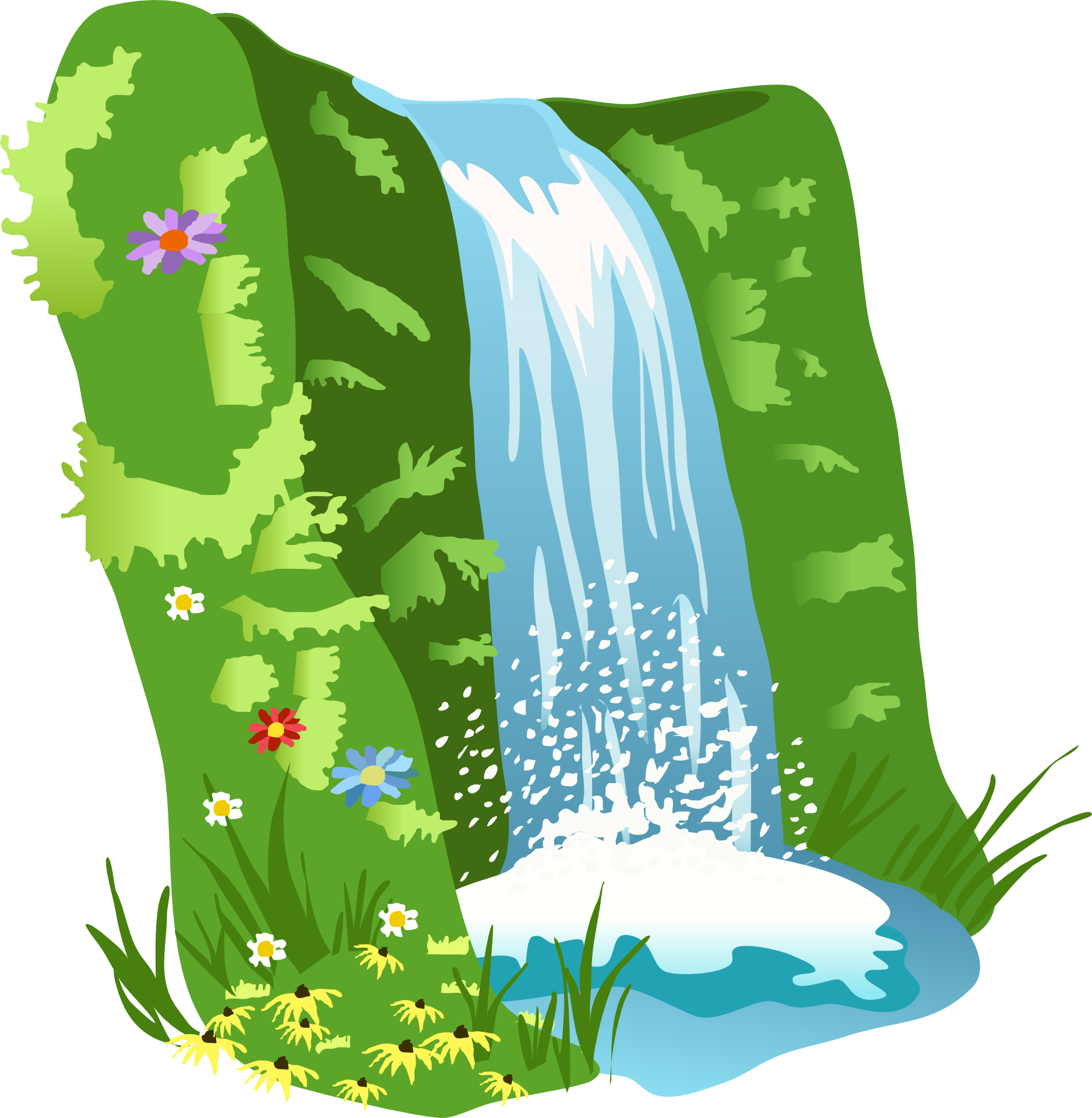 png free Collection of free Fallals clipart small waterfall