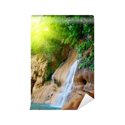 picture royalty free stock waterfall in jungle Wall Mural