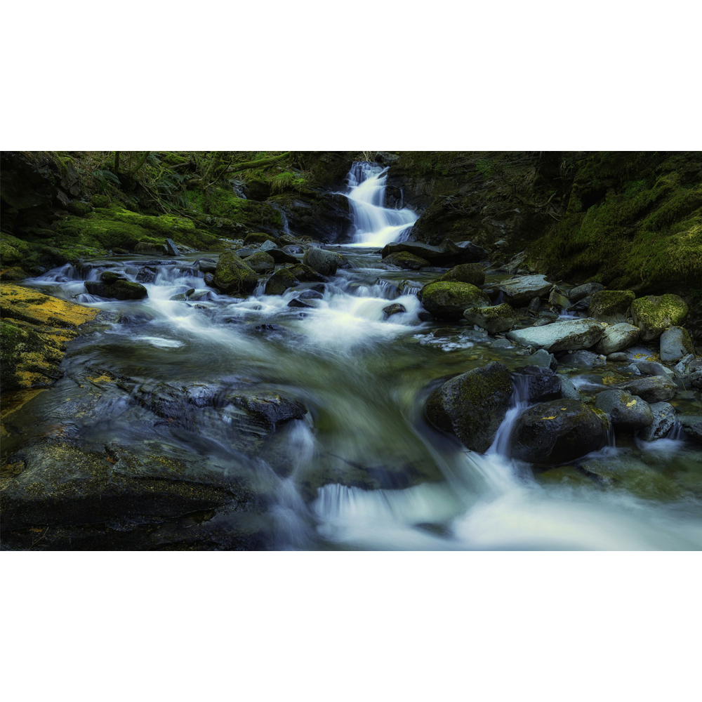 transparent stock Mountain stream waterfall