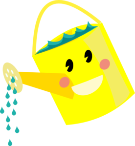 svg royalty free Smiling can clip art. Watering clipart