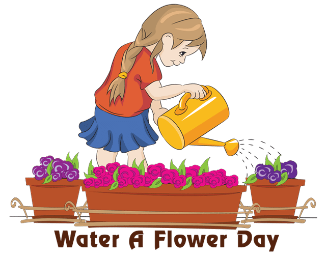 banner library stock Watering clipart ditch. National water a flower