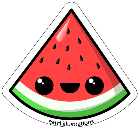 clipart freeuse Cute free on dumielauxepices. Watermelon clipart