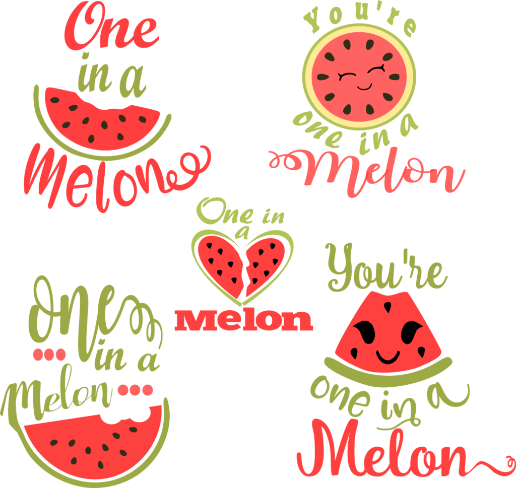 banner library library One in a Melon SVG Watermelon