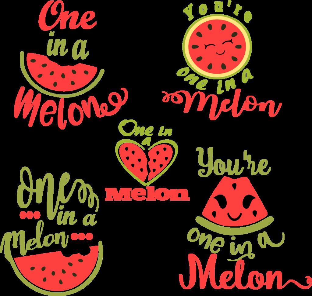 stock One in a Melon SVG Watermelon
