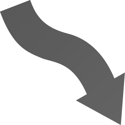 picture free download Wavy arrow clipart. Down right bw signs