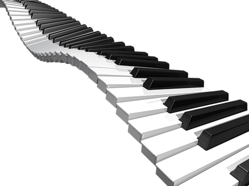 picture black and white stock Wavy piano keyboard clipart.  collection of keys