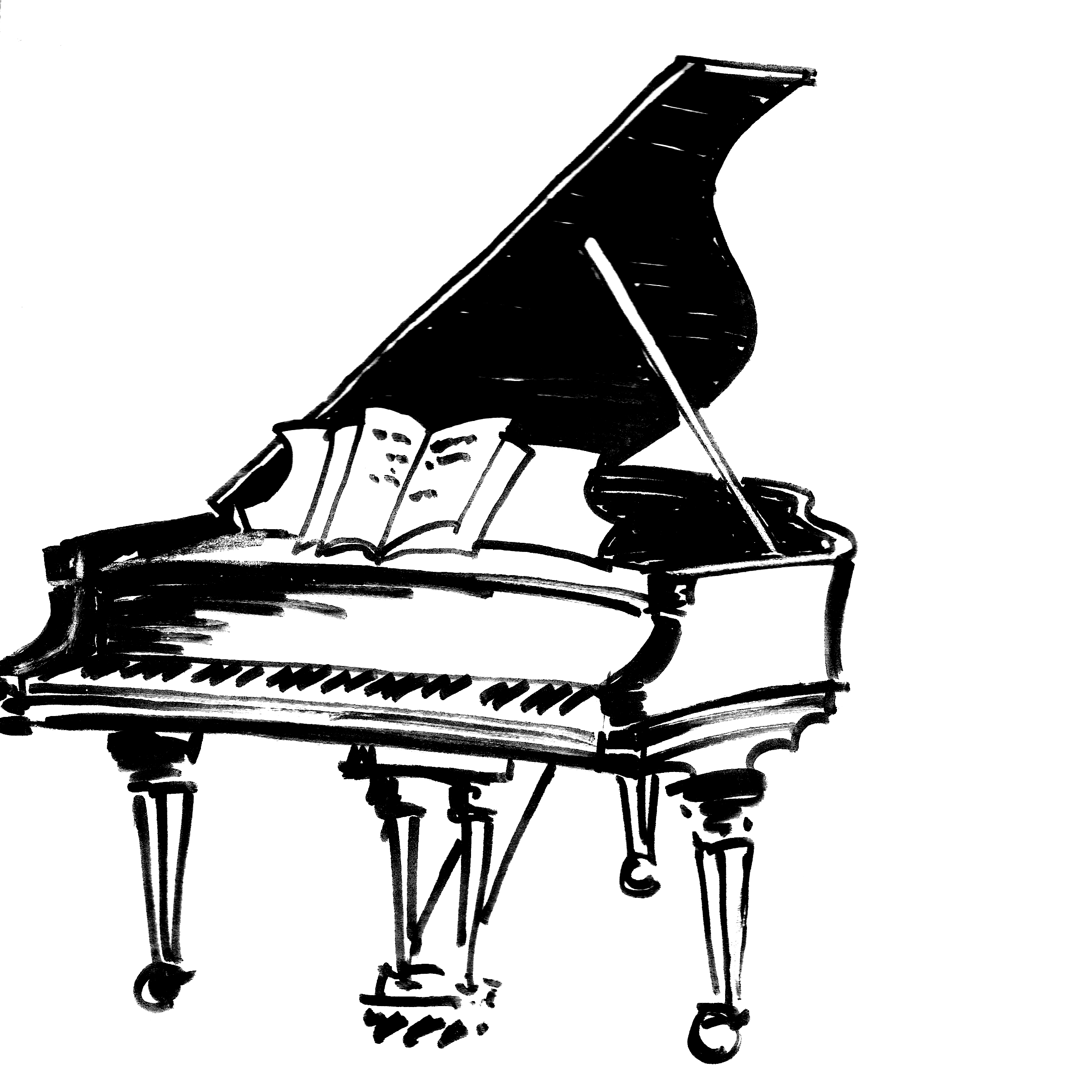 svg transparent library Wavy piano keyboard clipart. Drawing at getdrawings com