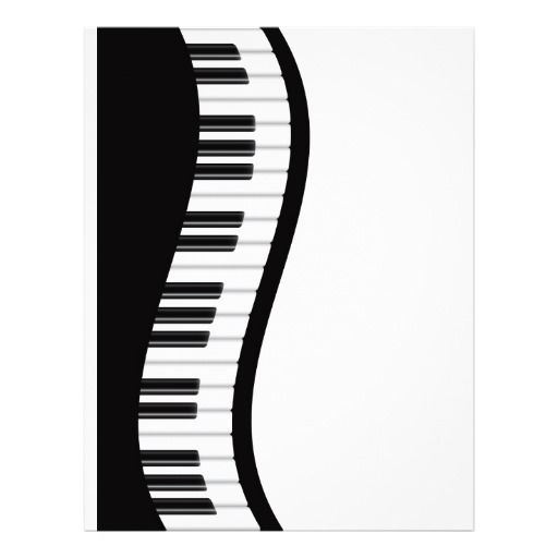 clip art black and white download Let s play music. Wavy piano keyboard clipart
