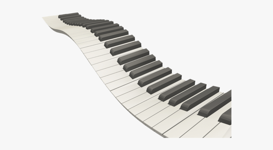 clip transparent stock Png free . Wavy piano keys clipart