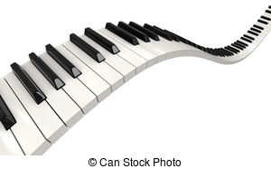 png royalty free download Wavy piano keyboard clipart. Free keys cliparts download