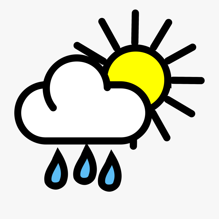 jpg library download Weather clipart. Shower sunshine transparent