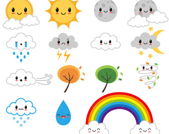 jpg royalty free Free cute cliparts download. Weather clipart.