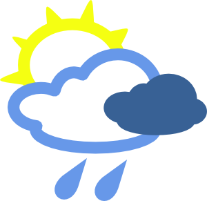 picture transparent stock Sun And Rain Weather Symbols Clip Art at Clker