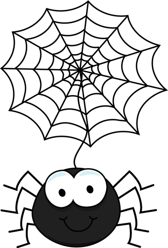 clip art freeuse download spiders dangling from web