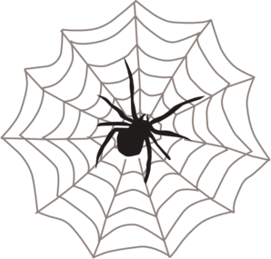 clipart library download Web clipart. Corner spider free images