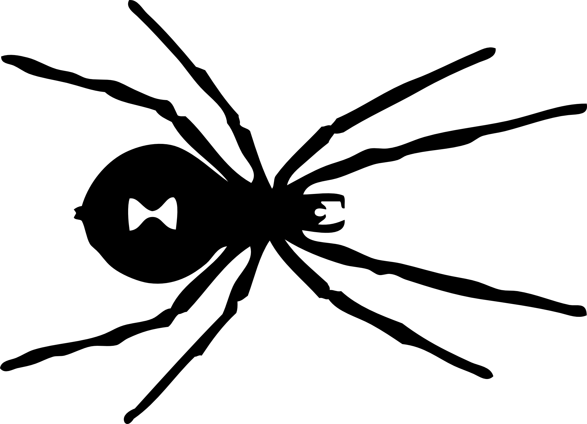 svg library download Spider and web clipart. Black white panda free