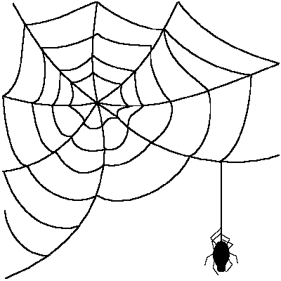 jpg Drawn Spider Web transparent background