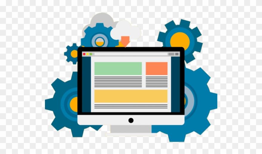 vector transparent download Technology website in . Web development clipart