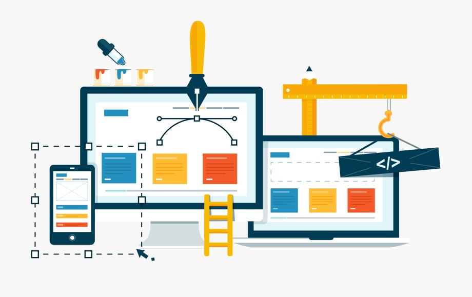clipart stock Creative design banner free. Web development clipart