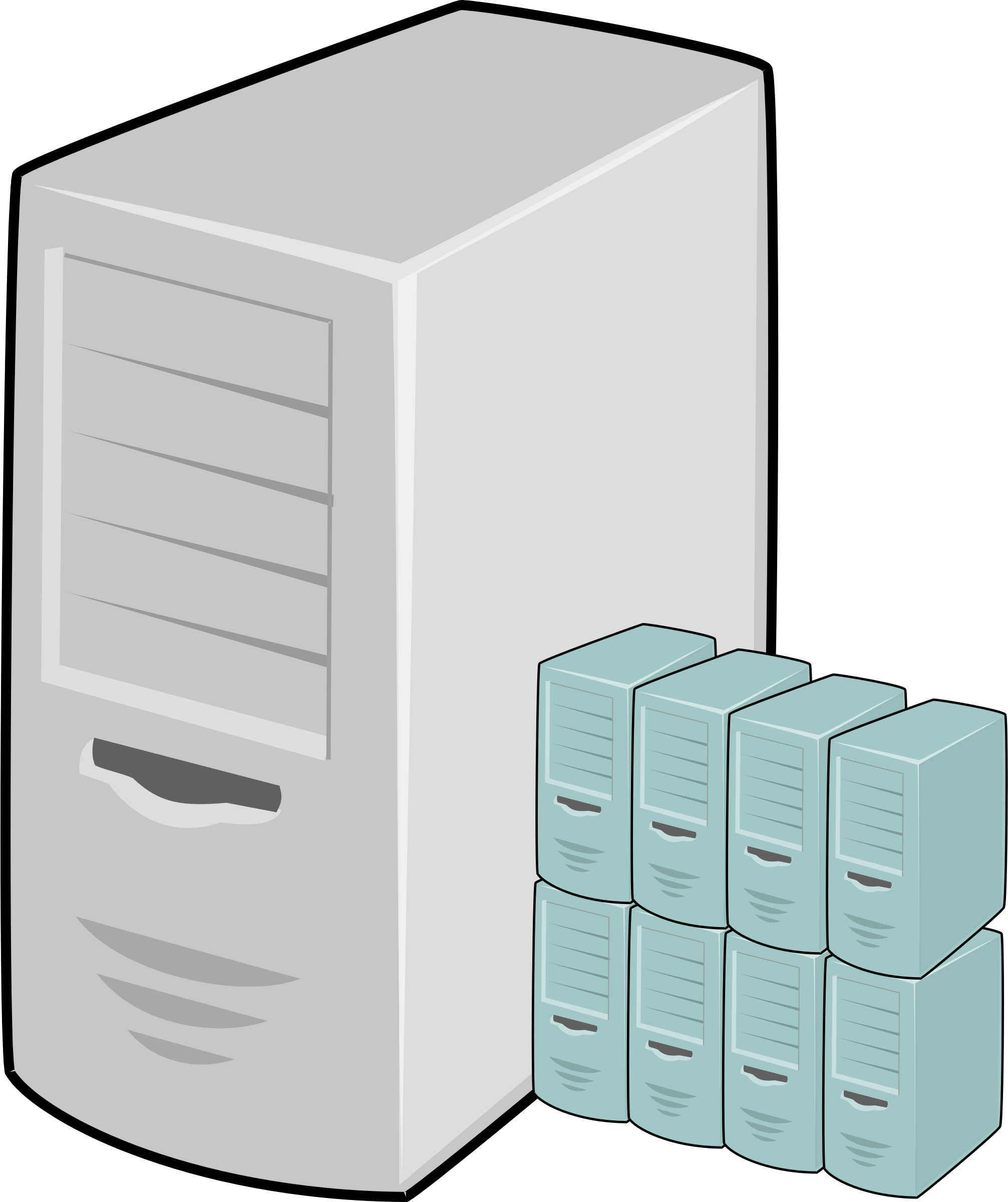 clipart free stock Web server clipart. Virtual machine host icons
