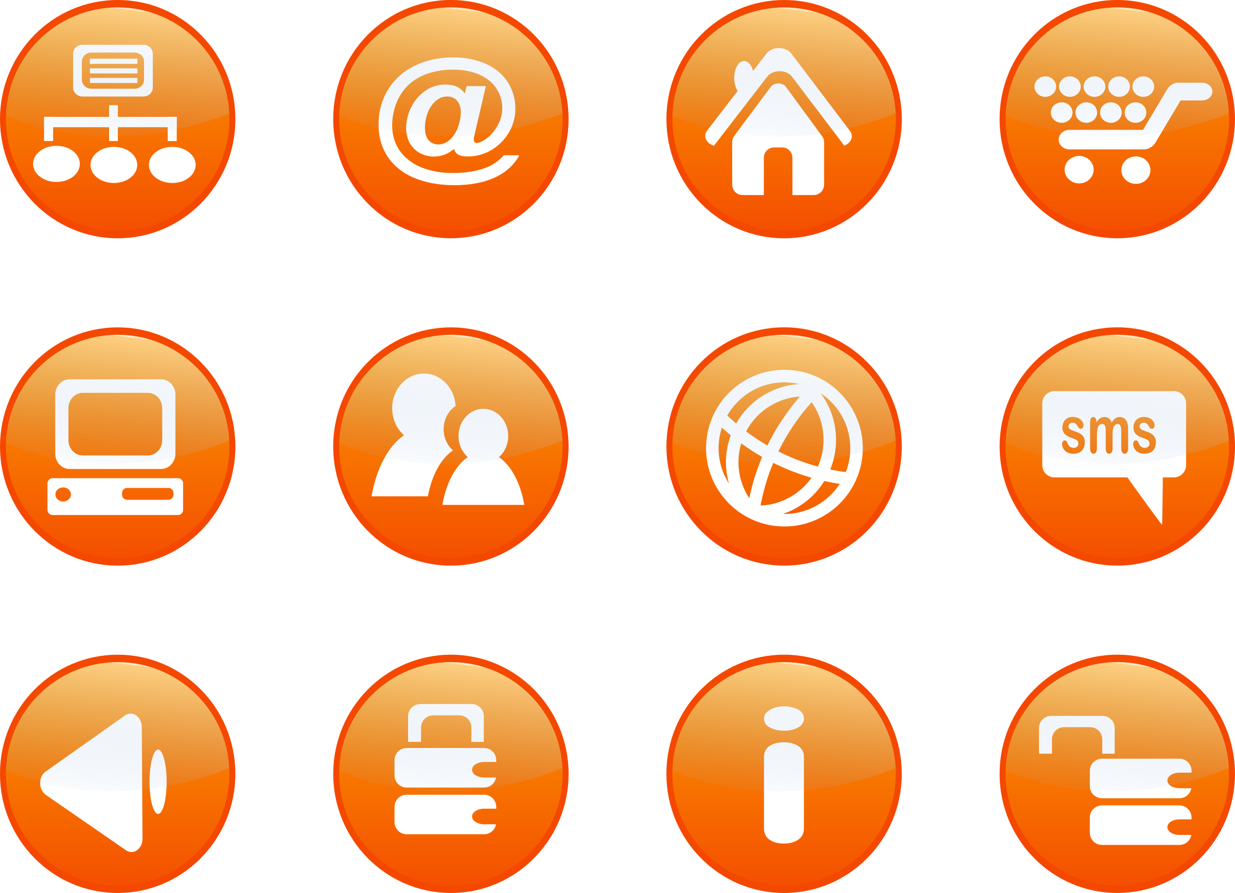 jpg Free clipart for web. Icons orange candy big