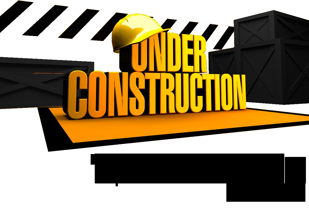 black and white Website under construction clipart. Construcion.