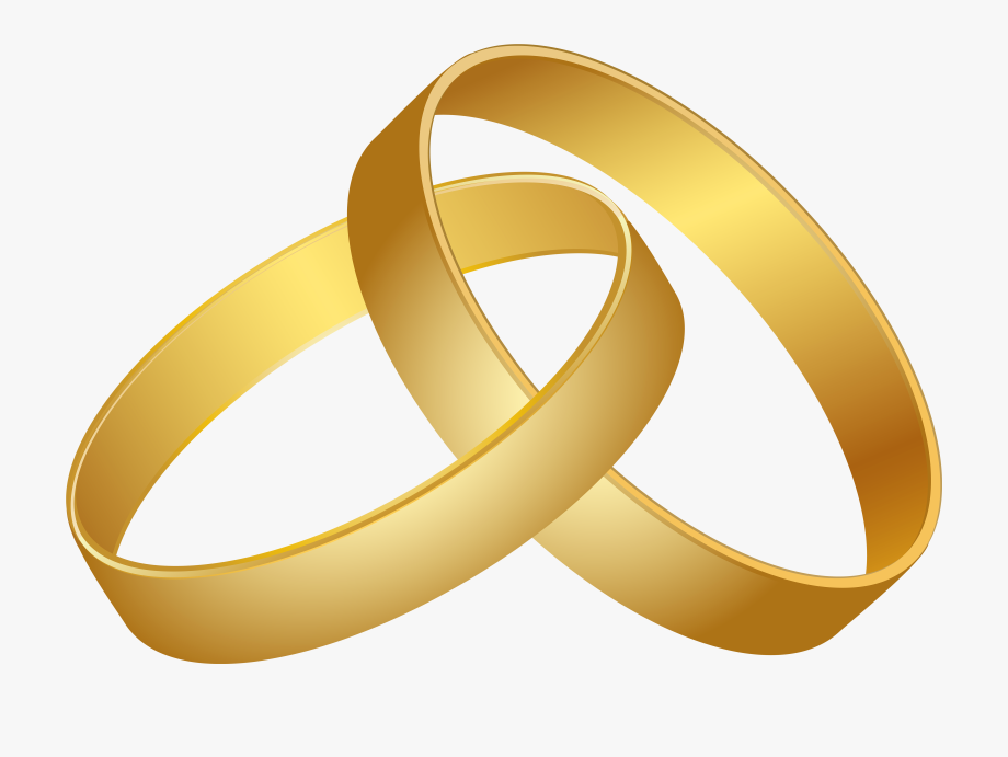 graphic freeuse library Gold rings clipart. Wedding png clip art