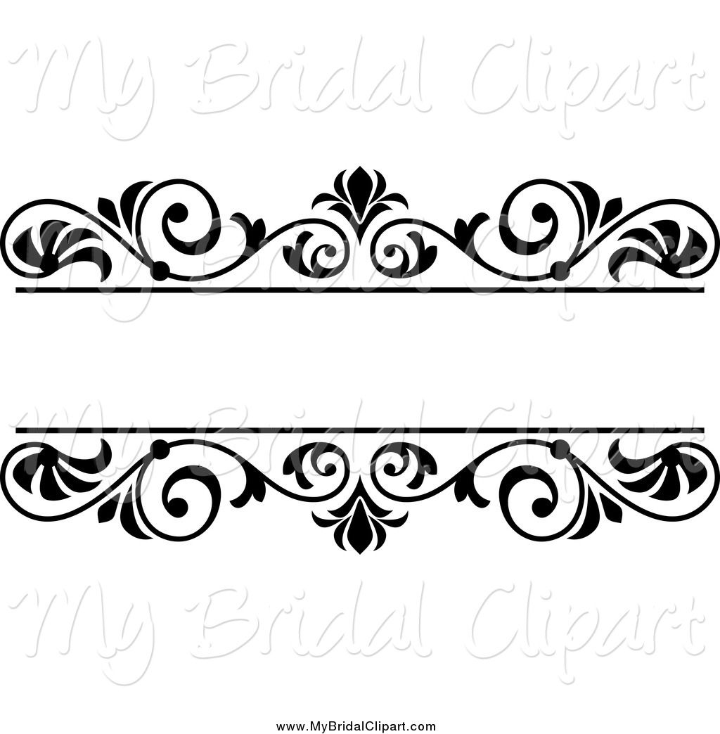 svg black and white stock Clip art black and. Wedding clipart borders