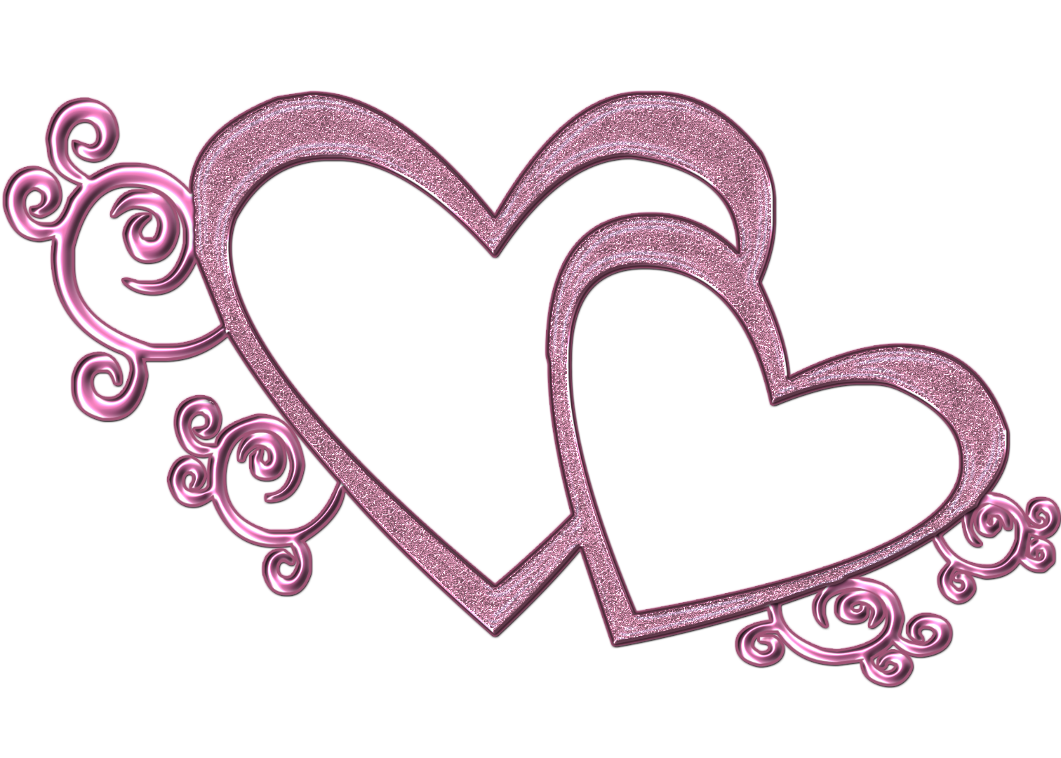 svg freeuse download Double heart clipart black and white. Wedding hearts free download