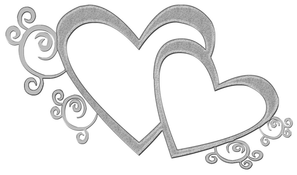 jpg royalty free Wedding invitation reception clip. Double heart clipart black and white