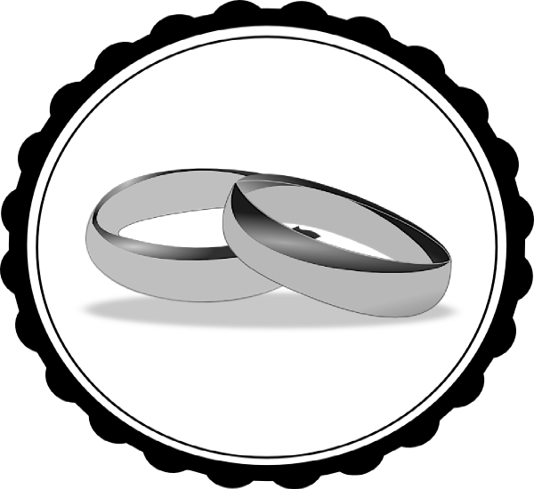 jpg freeuse download Ring . Wedding rings black and white clipart