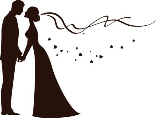 vector stock Ingenious bride and groom. In the clipart wedding