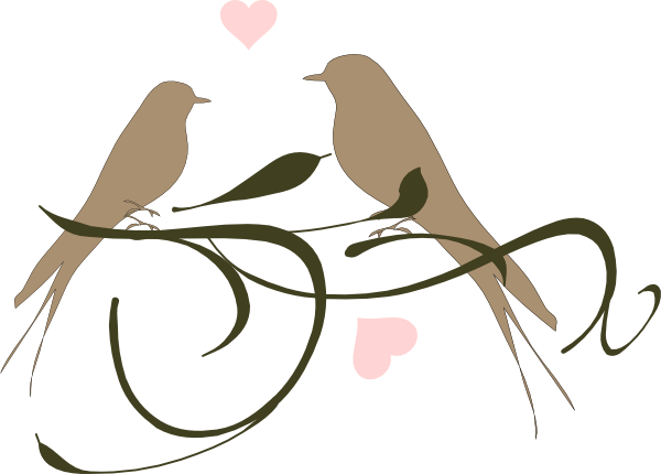png black and white Weddings free clipart cute. Wedding love birds clip