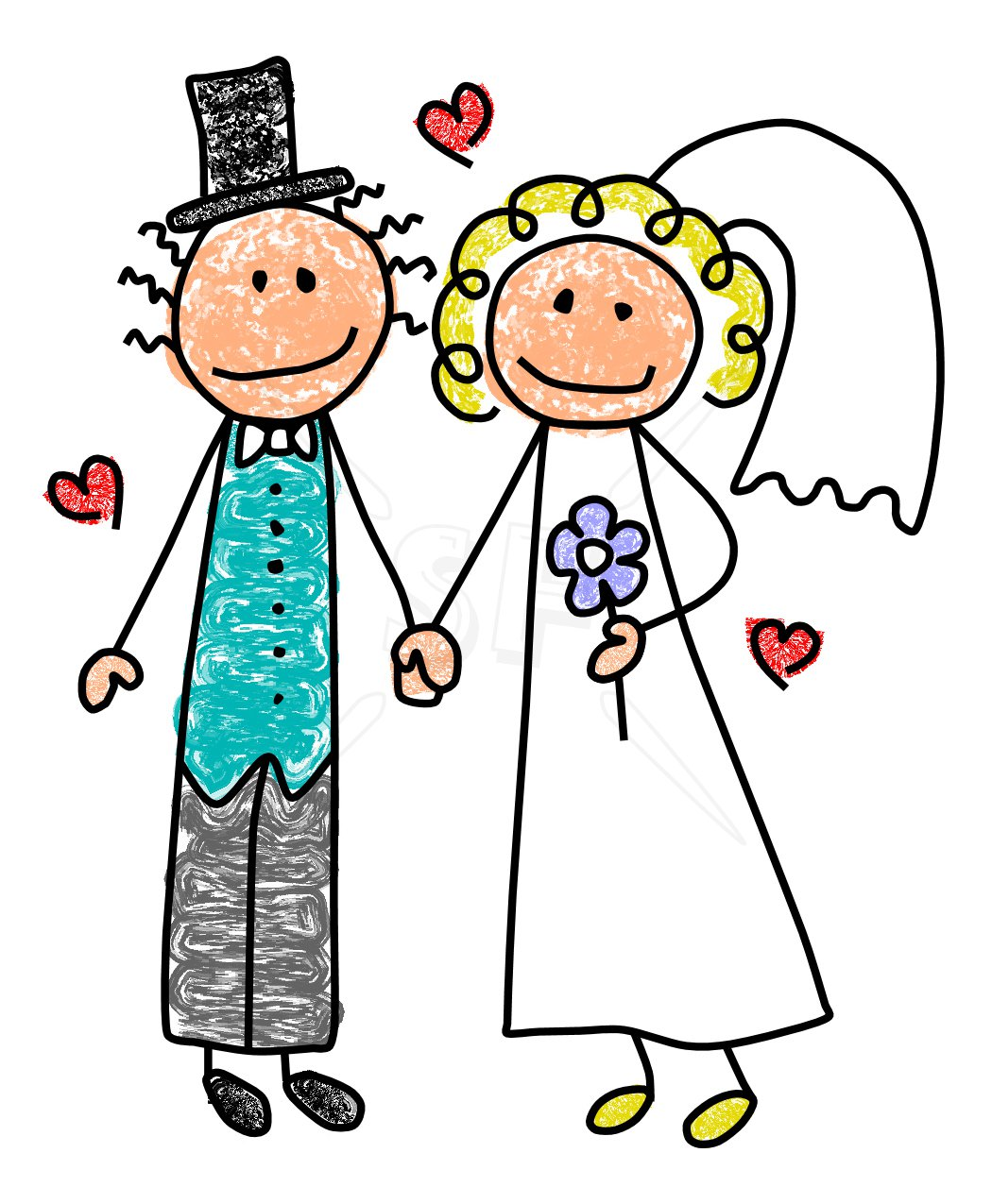 clip art library stock Cartoon wedding couple free. Yes clipart happy
