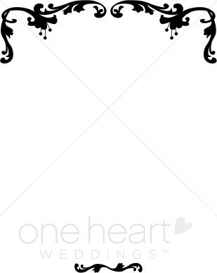 black and white download Wedding borders clipart. Border free download best