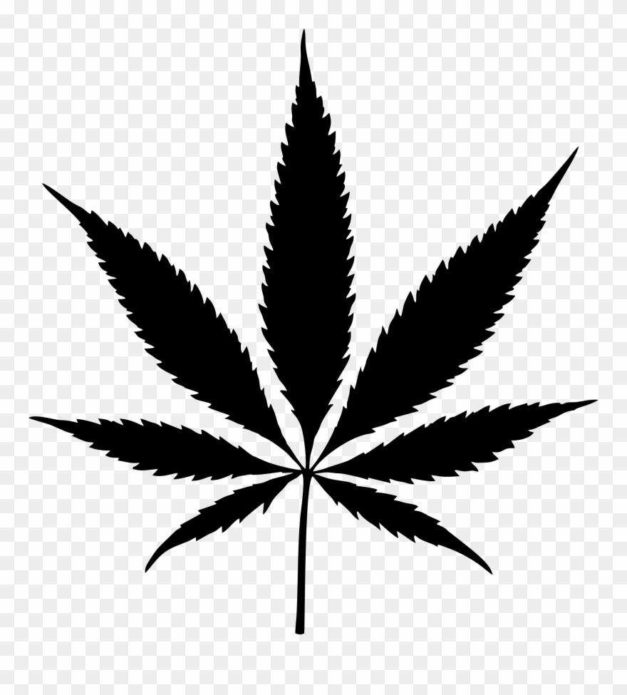 banner library stock Big image marijuana leaf. Weed clipart