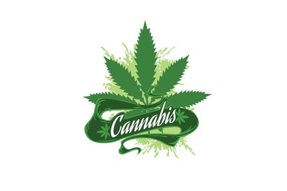 banner library stock Medical marijuana vector clip. Weed clipart