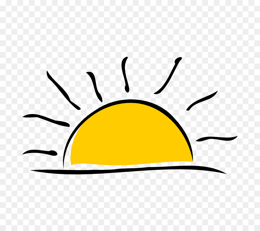 vector freeuse library Yellow background . Weekend clipart sunrise sunset