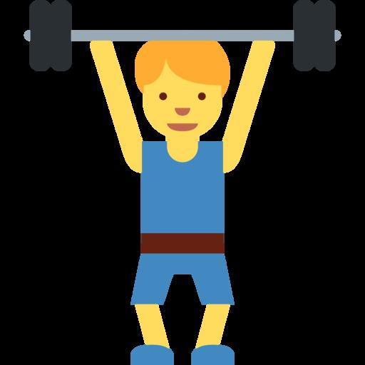 clip art library stock  twitter twemoji. Barbell clipart weight training