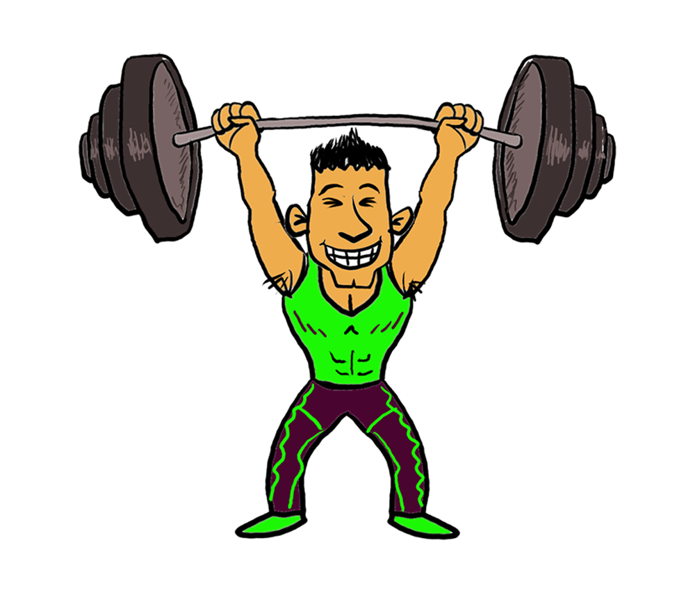image transparent stock Weightlifting clipart.  cartoon weightlifter sports